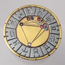 Astromedal joya talisman oro y plata