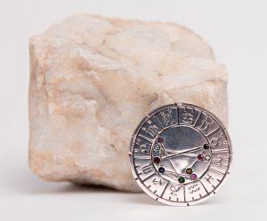 astromedal plata de ley broche y colgante