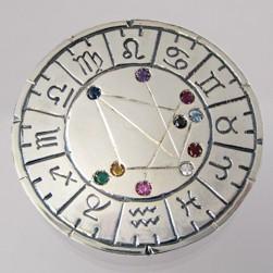 astromedal joya talisman plata