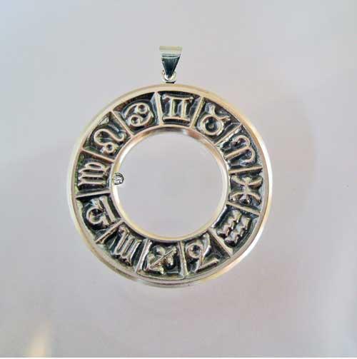 astromedal colgante plata zodiaco energia